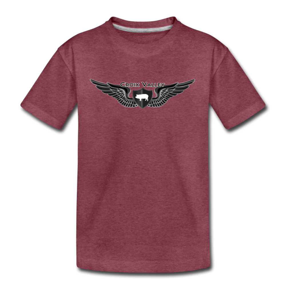 Tested on Animals Kids' Premium T-Shirt - heather burgundy