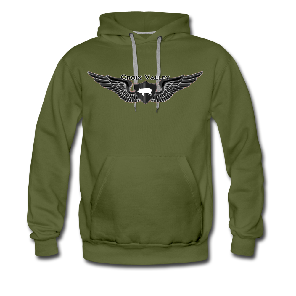 Citizen of the #CroixValleyNation Men's Premium Hoodie - olive green