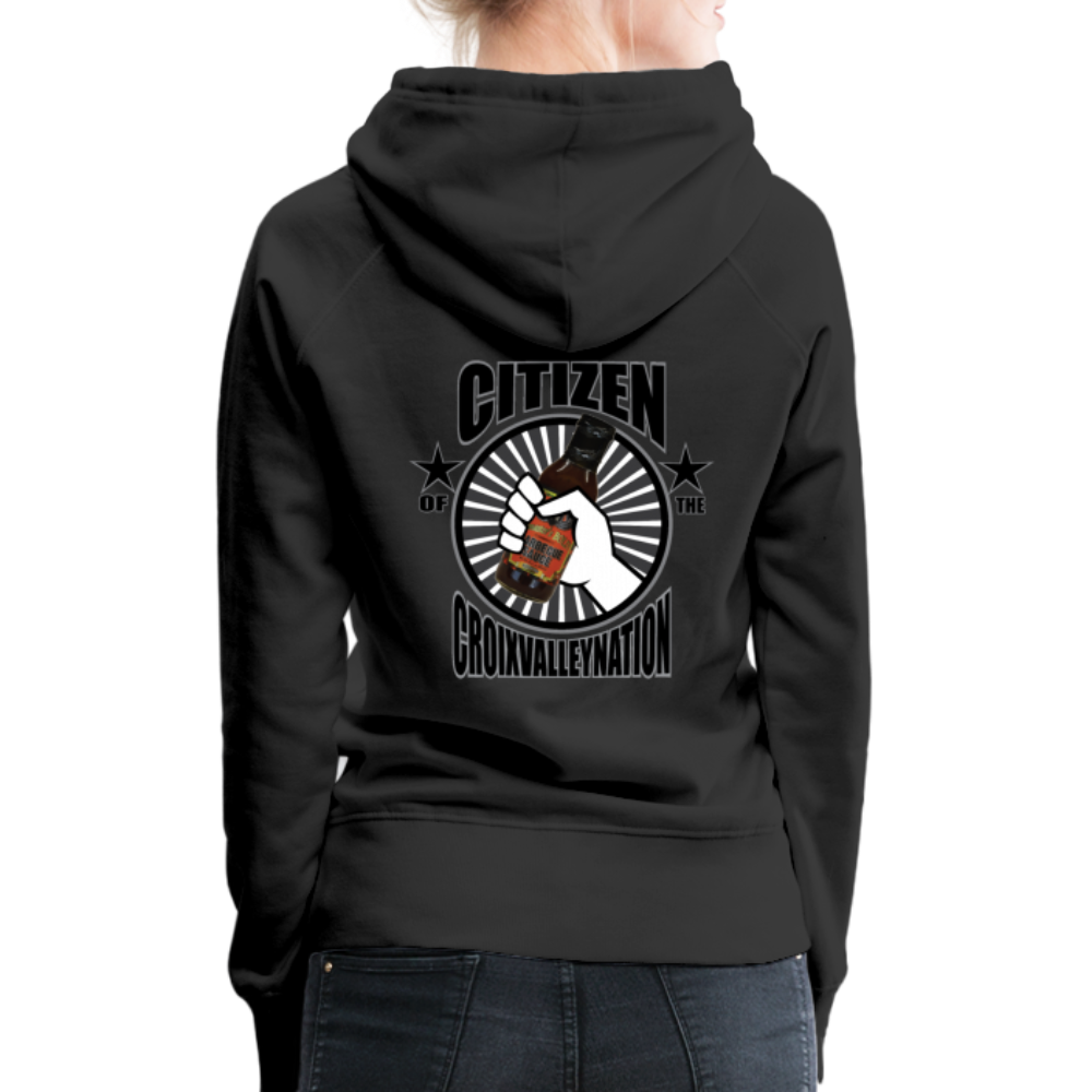 Citizen of the #CroixValleyNation Women's Premium Hoodie - black