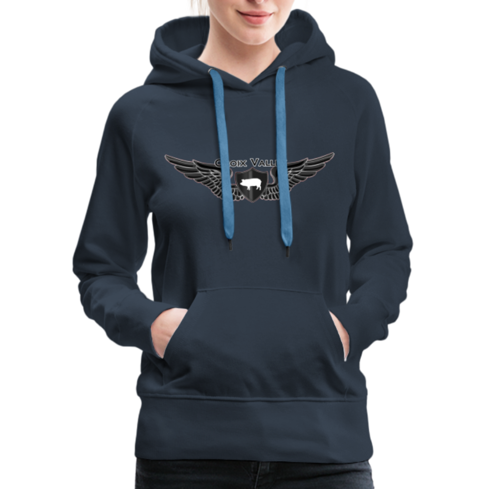 Citizen of the #CroixValleyNation Women's Premium Hoodie - navy