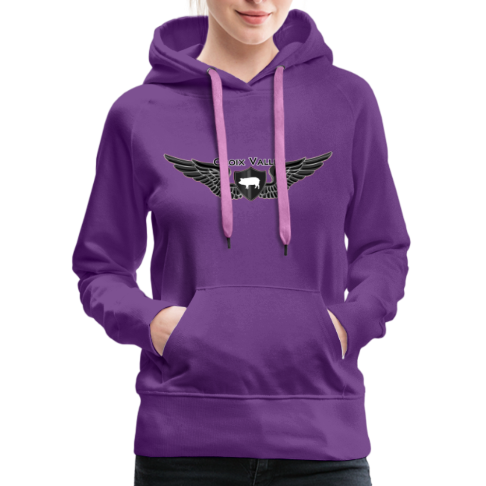 Citizen of the #CroixValleyNation Women's Premium Hoodie - purple