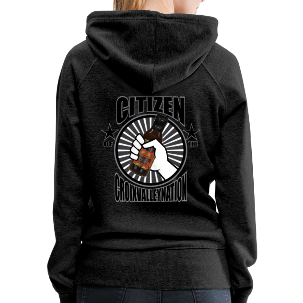 Citizen of the #CroixValleyNation Women's Premium Hoodie - charcoal gray