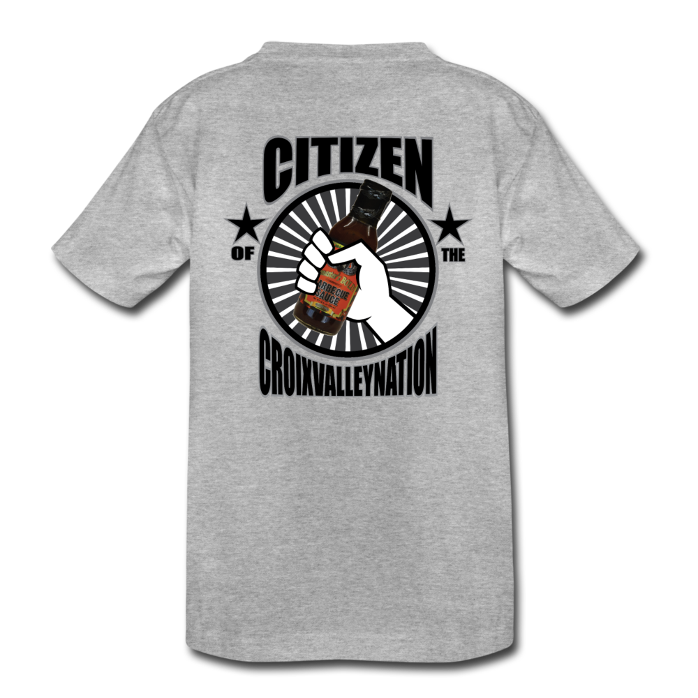 Citizen of the #CroixValleyNation Kids' Premium T-Shirt - heather gray