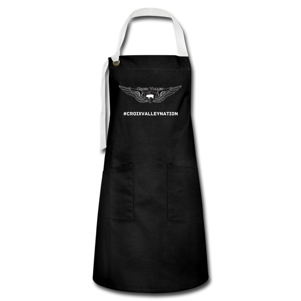 Croix Valley Artisan Apron - black/white