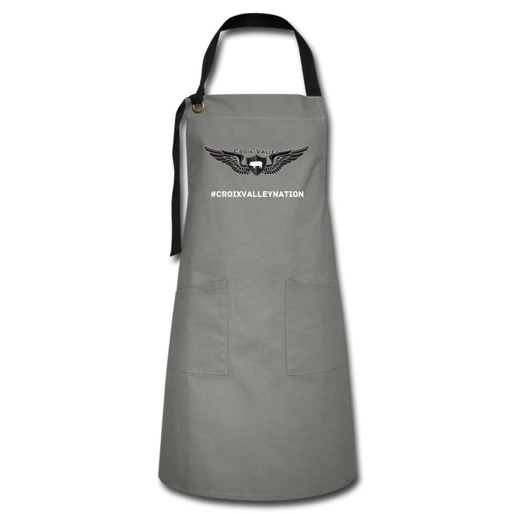 Croix Valley Artisan Apron - gray/black