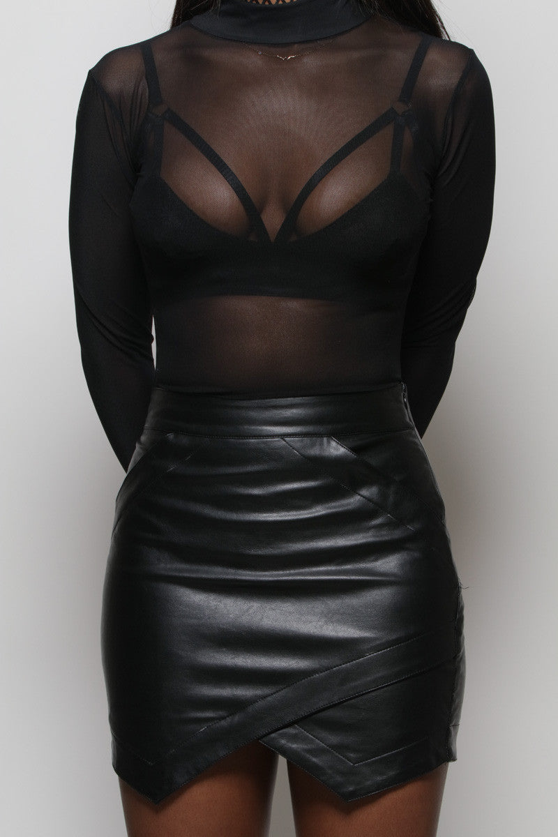 Nightwalker Leather Skirt