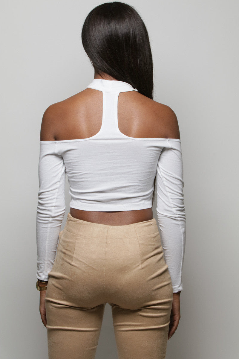 The After Party White Crop Top