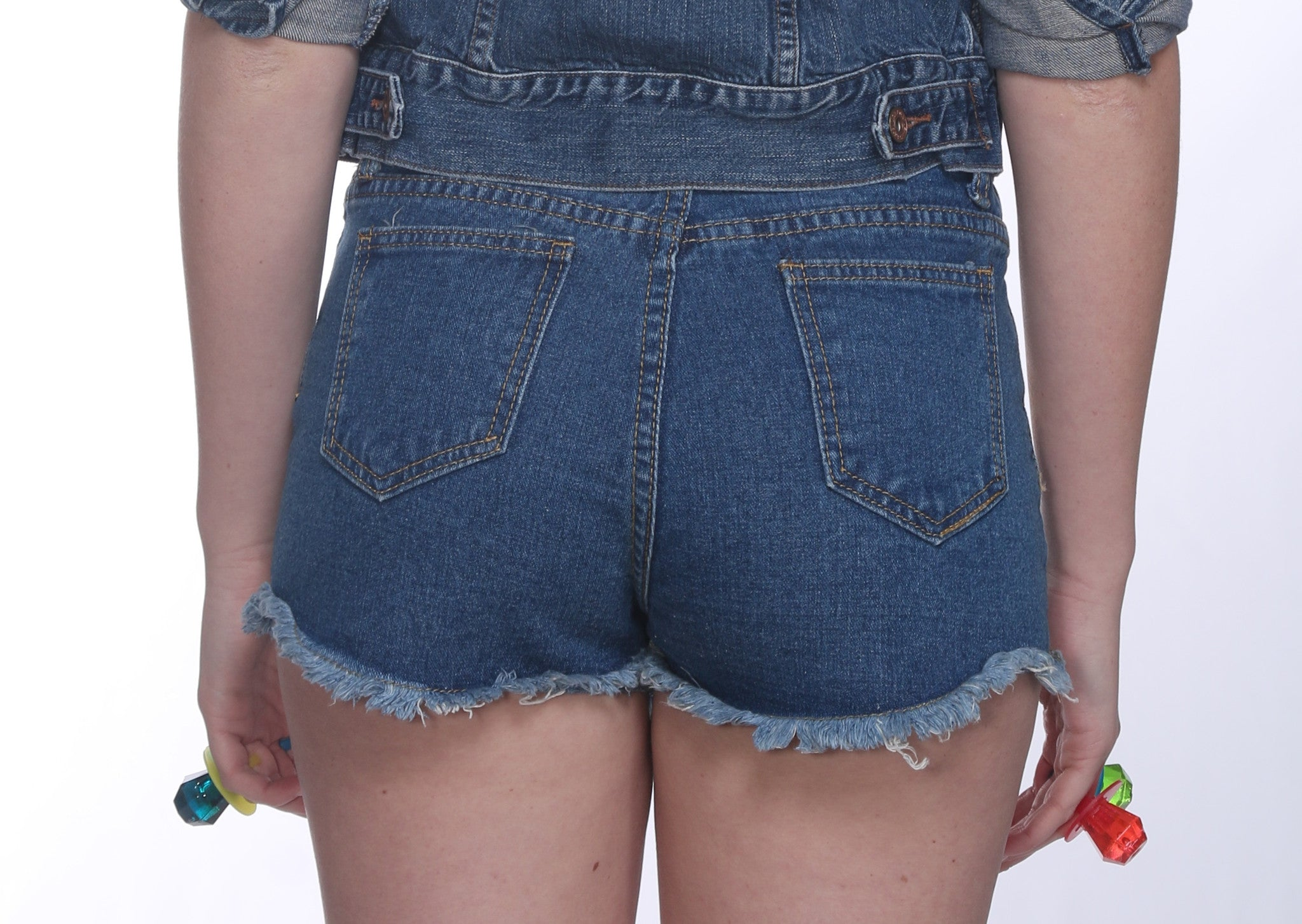 Custom 7ven x Betsey Johnson Patched Shorts #6