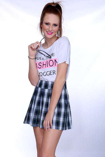 "Plaid ""School Girl"" Skirt"