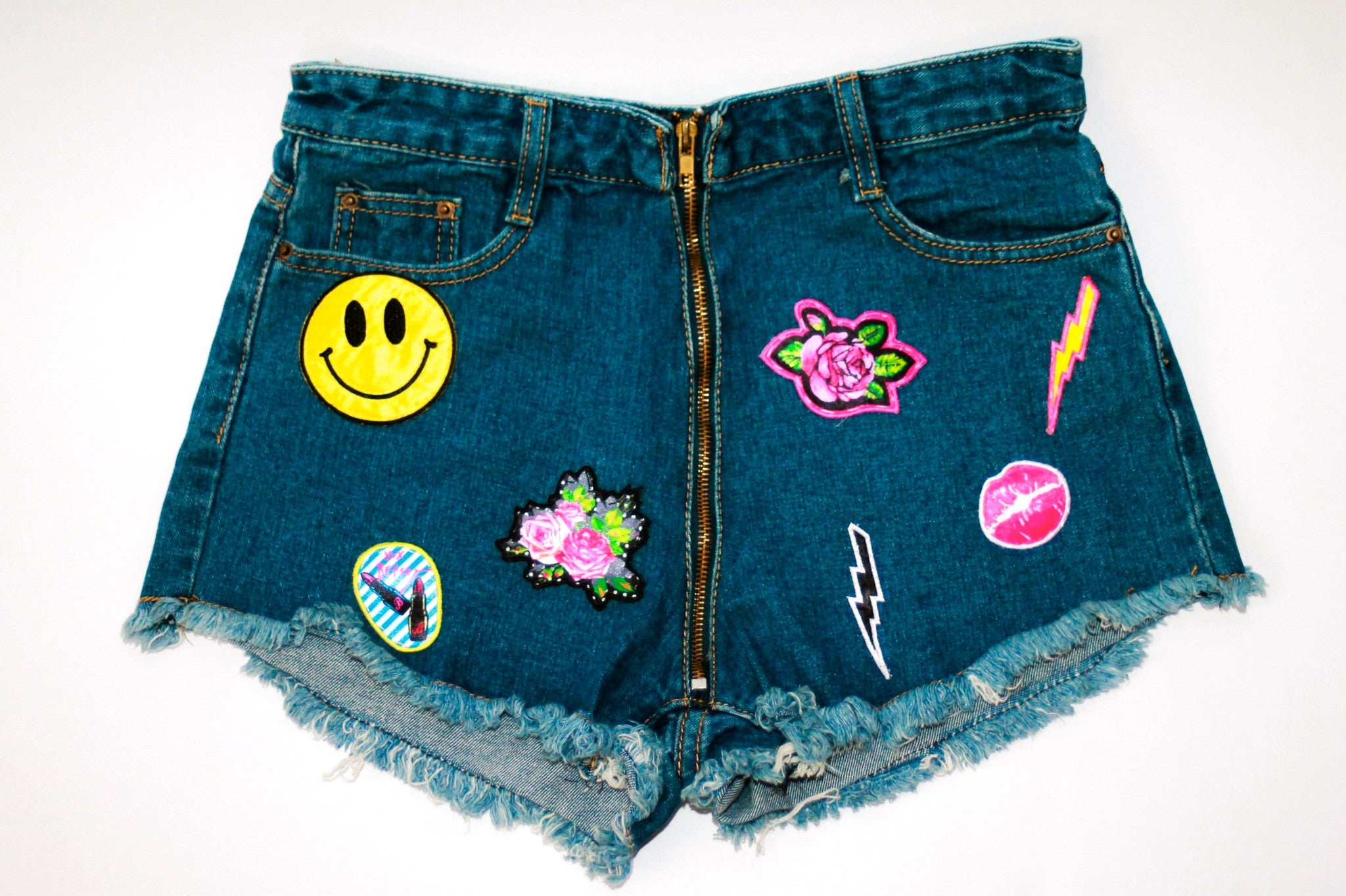 Custom 7ven x Betsey Johnson Patched Shorts #7