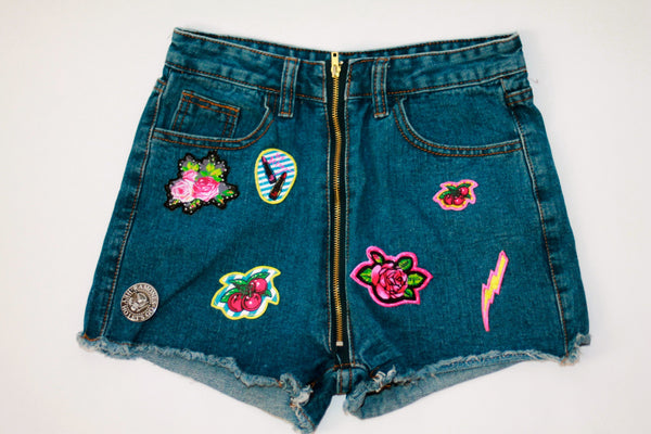 Custom 7ven x Betsey Johnson Patched Shorts #5