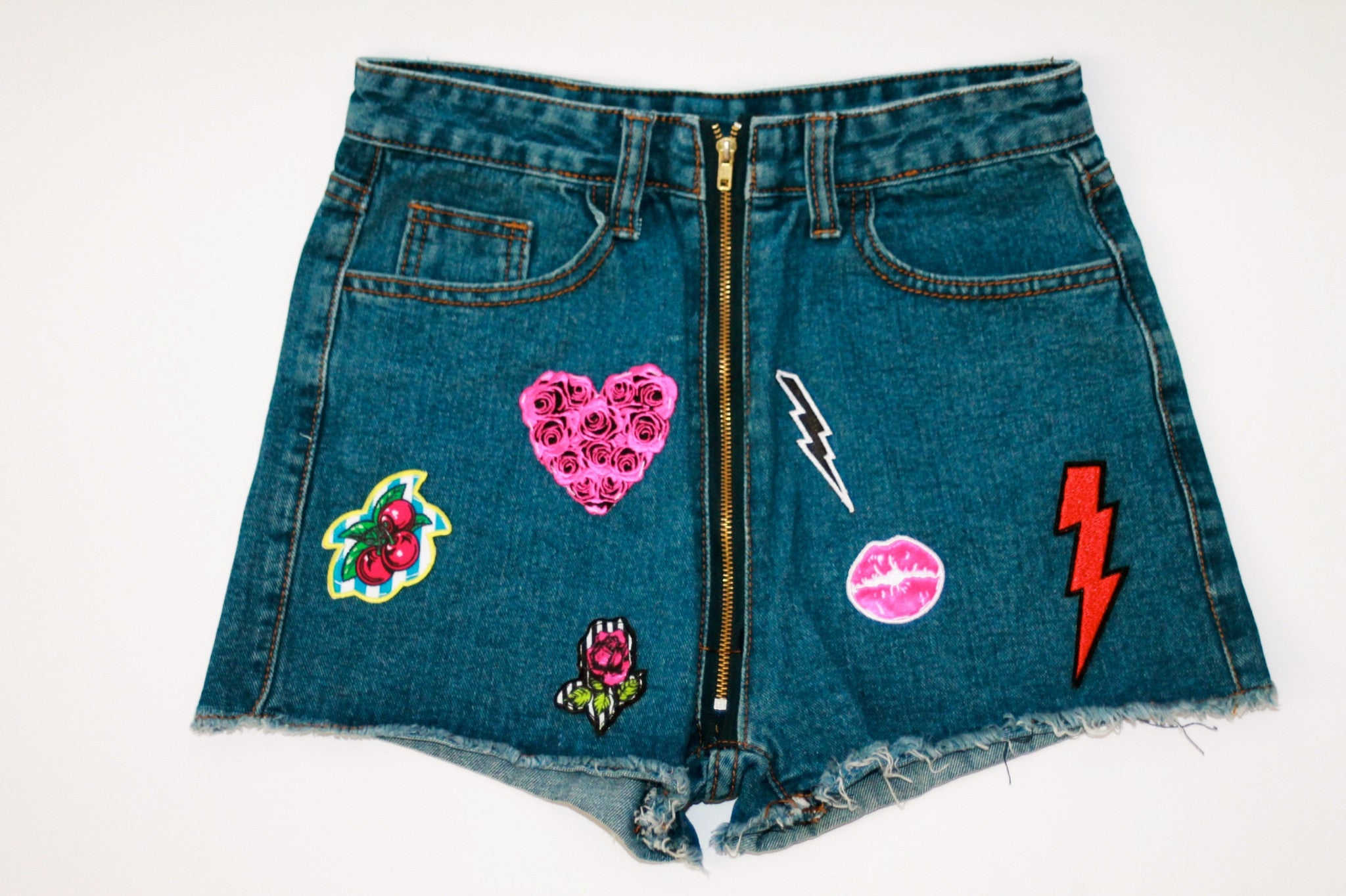 Custom 7ven x Betsey Johnson Patched Shorts #4