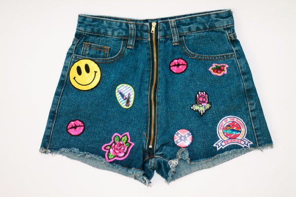 Custom 7ven x Betsey Johnson Patched Shorts #3