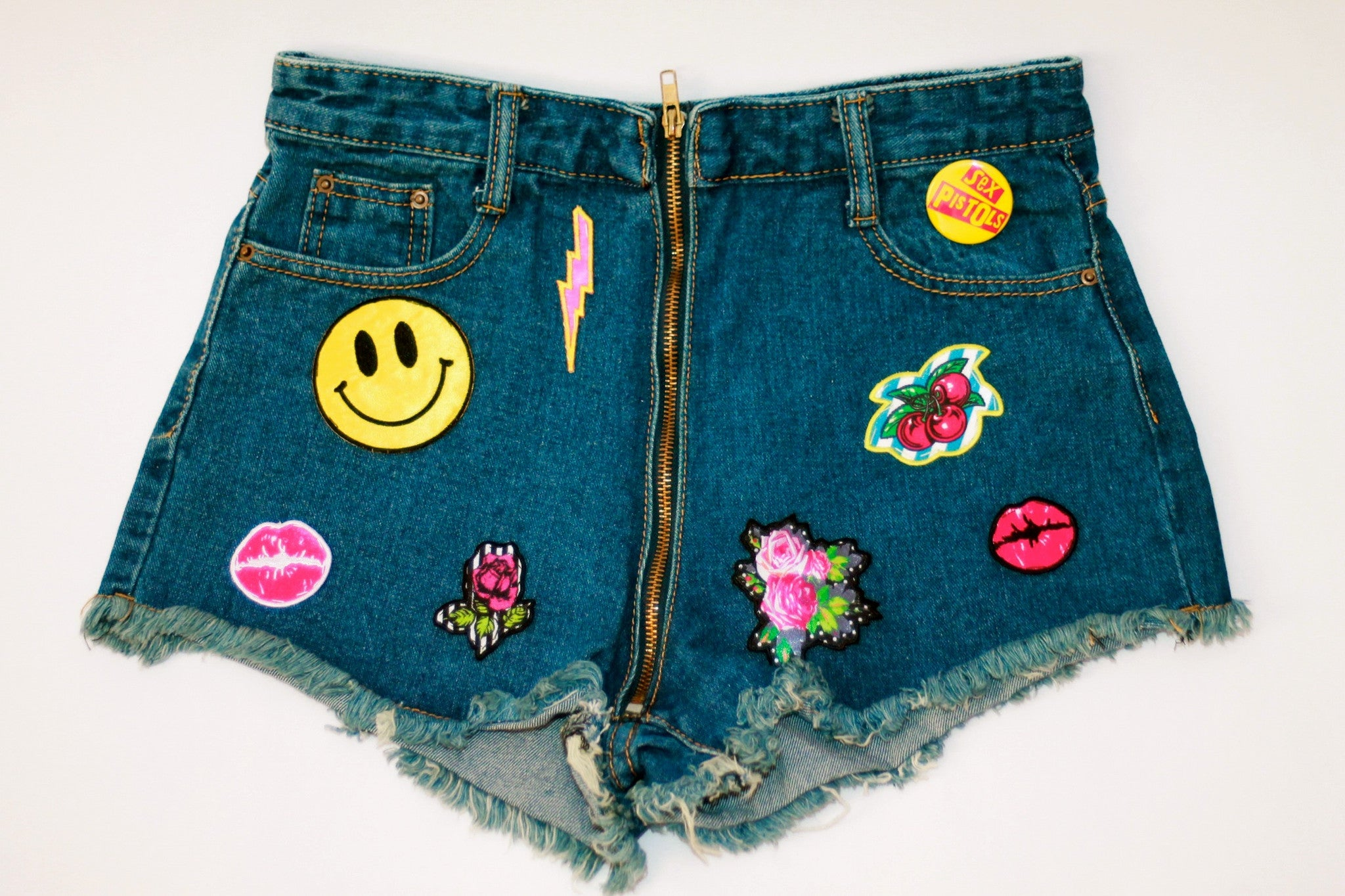 Custom 7ven x Betsey Johnson Patched Shorts #2