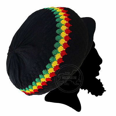 Rasta Hat Cap Rastacap Dreadlocks Cool Runnings Roots Reggae Jamaica Marley M/L