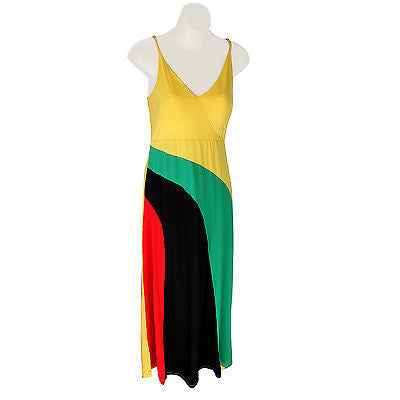 Rasta Roots Ladies Empress Long Dress Jah Reggae Vibes Cool Runnings Jamaica NEW