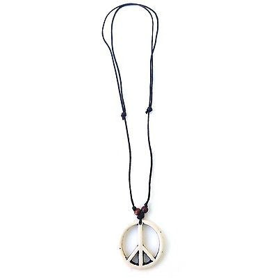 Peace String Necklace Pendant Unity Peace Adjustable Necklace Irie 1 SIZE FIT
