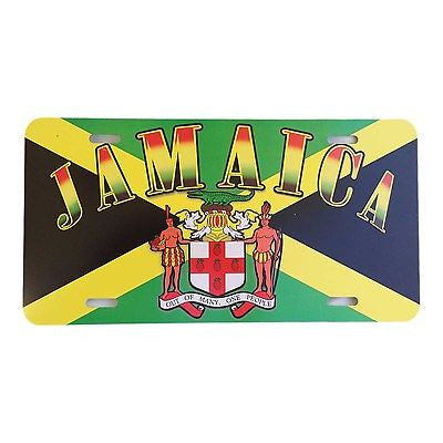 Jamaica Quote Of Arms Licenses Plate Marley Reggae One Love Roots Jamaica 12x6