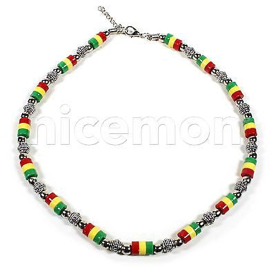 Rasta Necklace Roots Necklace Africa Selassie Rasta One Love Reggae Jamaica 18""