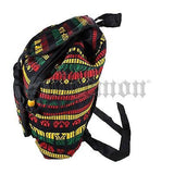 Reggae Rasta Surfer Hawaii Backpack Sack Tote Bag Hippie Irie Jamaica Marley 16""