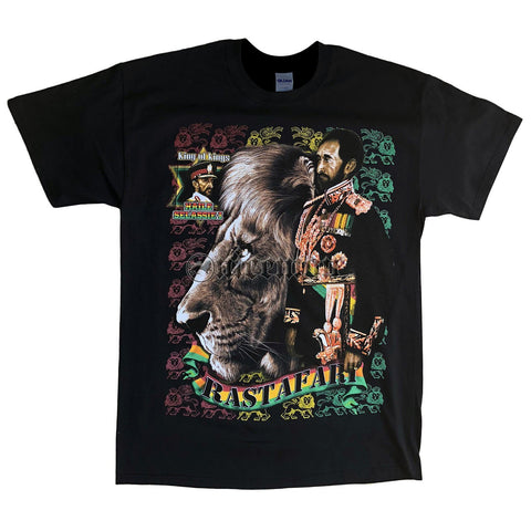 Selassie T Shirt King Rastafari Africa T Shirt Lion Of Judah