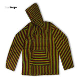 Poncho Jacket Assorted Colors Hoodie Shirt Reggae Hobo Hippie 100% Cotton HOODIE