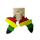 Africa Empress Royalty Jamaica Rasta Earrings Marley Reggae One Love Jamaica XL
