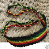 Rasta Roots Wrist Friendship Bracelet Negril Hawaii Surfer Reggae Jamaica 11""