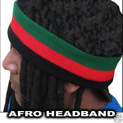 Afro Hair Band Marcus Garvey Africa Sweat Band Black Star-liner African 1sz Fit
