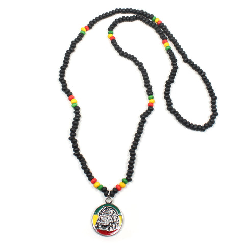 Necklace Roots Necklace Africa Selassie Rasta One Love Reggae Jamaica 22""