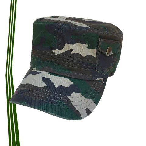 Jah Army Castro Cadet Military Style Cap 100% Cotton Gorra 1SZ Fit