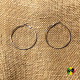 Chrome Large Womens Empress Dangle Dangling Hoop Circle Earrings Earring XL