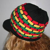 Rasta Natty Dread Rastafari Peak Crown Reggae Cool Runnings Jamaica Marley M/L