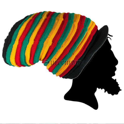 Rasta Rastafari Tall Peak Crown Hat Reggae Dubwise Lion Jamaica Marley [ XL ] Fit
