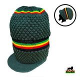 Rasta Natty Dread Dreadlocks Cap Hat Hippie Irie Reggae Marley Jamaica XL to XXL