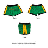 Ladies Jamaica Shorts Jamaican Flag Colors Reggae Wear Style Irie Kingston 1LOVE
