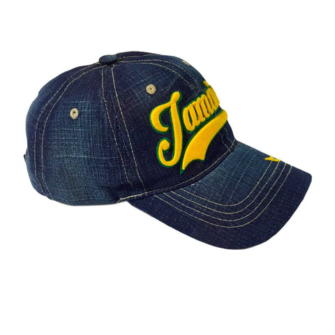 f1cd1743f685a3 ... Jamaica Blue Jeans Ball Baseball Cap Hat One Love Kingston Usain Marley  1 SZ FIT ...