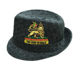 Lion Of Judah Rasta Fedora Hat Cap Babylon Africa Reggae Dancehall S to M FIT