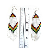 Jamaica Rasta Rastafari Empress Irie Earrings One Love Marley Reggae Jamaica NEW