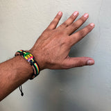 One Love Rasta Leather Wrist Cuff Wrist Bracelet Hippie Bob Reggae IRIE
