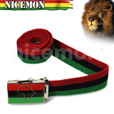 Jamaica Lion Of Judah Africa Afro Ethopia Selassie Canvas Belt 1 SZ Adjustable