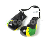 Caribbean Flag Boxing Gloves Car Rearview Ornament Irie Kingston Reggae Irie 4""