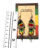 Jamaica Rasta Irie Earring Marley Reggae Jamaica Style Dangle & Chandelier NEW