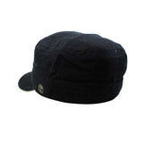 Black Cap Timberland Earthkeeper Organic 100% Cotton Military Style Fidel Cadet Hat FITTED