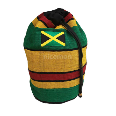 Jamaica Flag Reggae Cool Runnings Drawstring Backpack Sack Tote Bag Surfer 18""