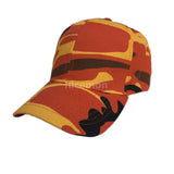 Orange Camouflage Military Camo Ball Baseball Caps Hats 100% Cotton 1sz Fit