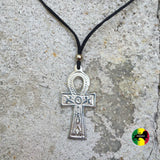 Ankh Shield Symbol Charm Pendant Unity Peace Adjustable Necklace Irie 1 SIZE FIT