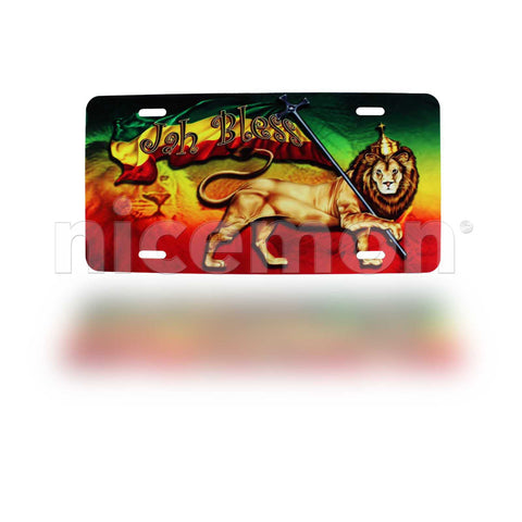 Lion Of Judah Rasta Licenses Plate Marley Reggae One Love Roots Jamaica 12x6