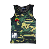 Woodland Camouflage Style Tank Top Hawaii Rastafari Hippie Reggae Tank TOP