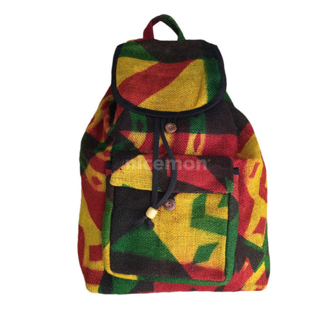 Reggae Cool Runnings Drawstring Burlap Backpack Bag Hippie Surfer Marley 15""